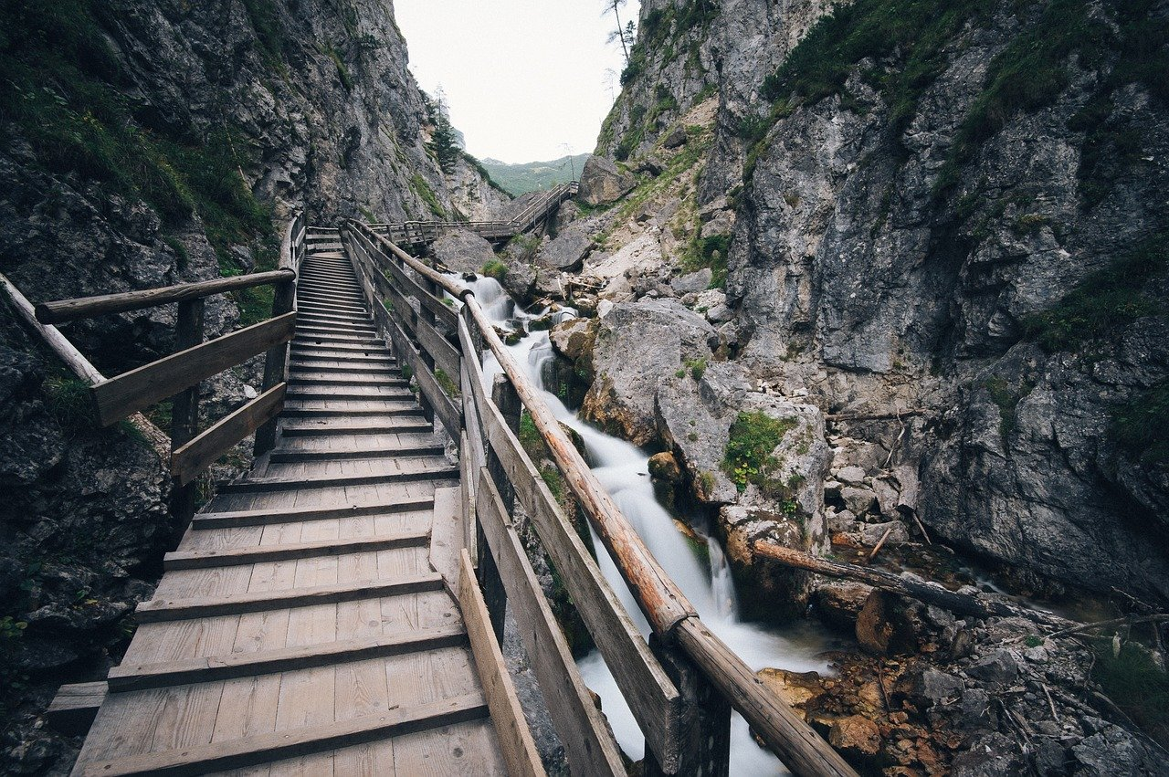 A picture containing outdoor, rock, nature, ravine Description automatically generated